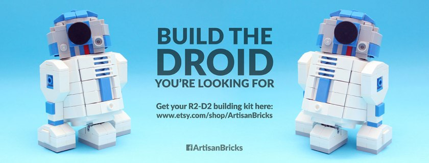 Artisan Bricks by Jeffrey Kong - LEGO R2-D2 Brick Builing Kit - For Flickr - Landscape - lo-res